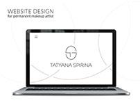 Website for permanent makeup artist Tatyana Spirina