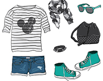Street style look in vector