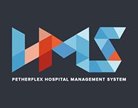 PETHERFLEX HOSPITAL MANAGEMENT SYSTEM (HMS) LOGO DESIGN