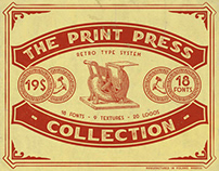 The Print Press Collection - Font Bundle