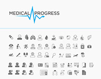 Medical Progress : Icon Design
