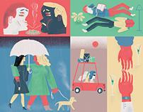 Illustrations for Il Corriere della Sera