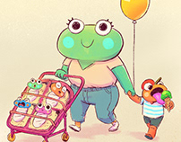 Frogtober 2017 Character Compilation