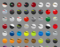 Color icons for 3 bike stores