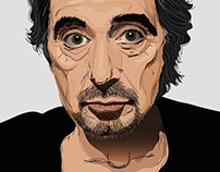 Portrait of actor Al Pacino. Vector graphics.