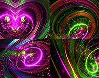 Neon Rainbow - VJ Loop Pack (5in1)