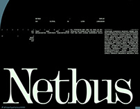Netbus - Type Design. Available for purchase.