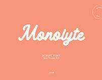 MONOLYTE - SCRIPT FONT