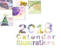2018 Calendar Illustrations