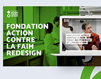 Website redesign for Action against Hunger Foundation