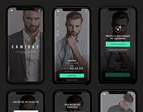 Mockup Mobile para empresa de moda masculina