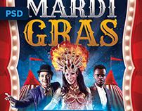 Mardi Gras Carnival Flyer - PSD Template