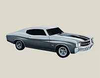 Digital Painting of a Chevrolet Chevelle
