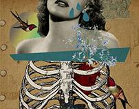 Les papillons dans le stomach - Photoshop Collage