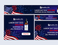 Web and print Banner Design in illustrator &