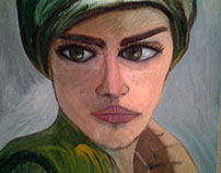 the green eye ( oil on canvas ) 21cmX29 cm