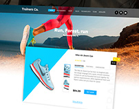 Trainers Co. / Promo landing page