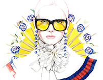 GUCCI Fashion illustrations by António Soares