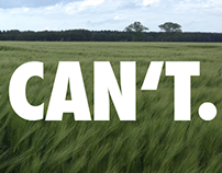Yes, you can't. De-inspirational quotes