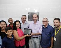 inauguração da quadra poliesportiva Fco Santana Melo
