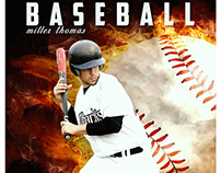 Baseball sports photography template