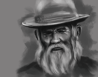 Digital Painting - The Old Man