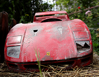 ferrari f 40 ,, weathering and styling model