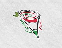 """""""Conza"""" (The Cone Pizza) - Logo Design"""