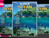 World Ocean Day Flyer + Social Media Post