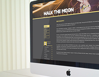 Walk the Moon Website Layout