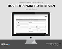 Wireframe Design for Channel Management System