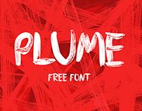 PLUME - Free Brush Font