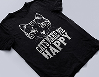 Cat T-Shirt Design