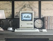1984 Apple Macintosh Mockup