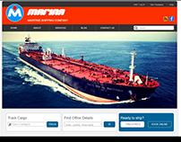 Maritime Shipping Company website example