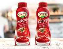 Öncü Salça Ketçap Ambalaj Tasarımı. Ketchup Design