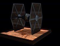 Low poly Tie fighter