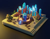 Place with Big Crystals