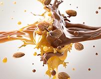 choc caramel splash with california almonds
