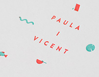 Paula&Vicent. Weeding design invitation. 2017