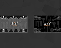 Cher Hair & Beauty Salon Visiting Card