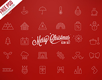 Freebie : Merry Christmas Icons Free PSD