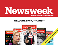 Newsweek - Two-sided postcard