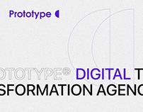 Prototype digital agency website