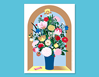 Vase with Flowers in a Window