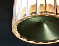 Fresnel glass pendant light