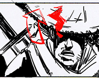 Blades 4 Higher Opening Cinematic Storyboards