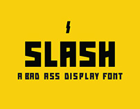 Slash - a badass display font