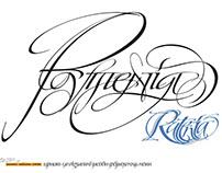 Festival calligraphy and typography Rutenia