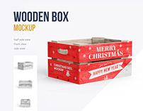 Christmas Box Mockup. 3 psd